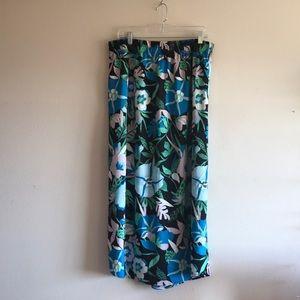 Ann Taylor Loft Tropical Midi Skirt